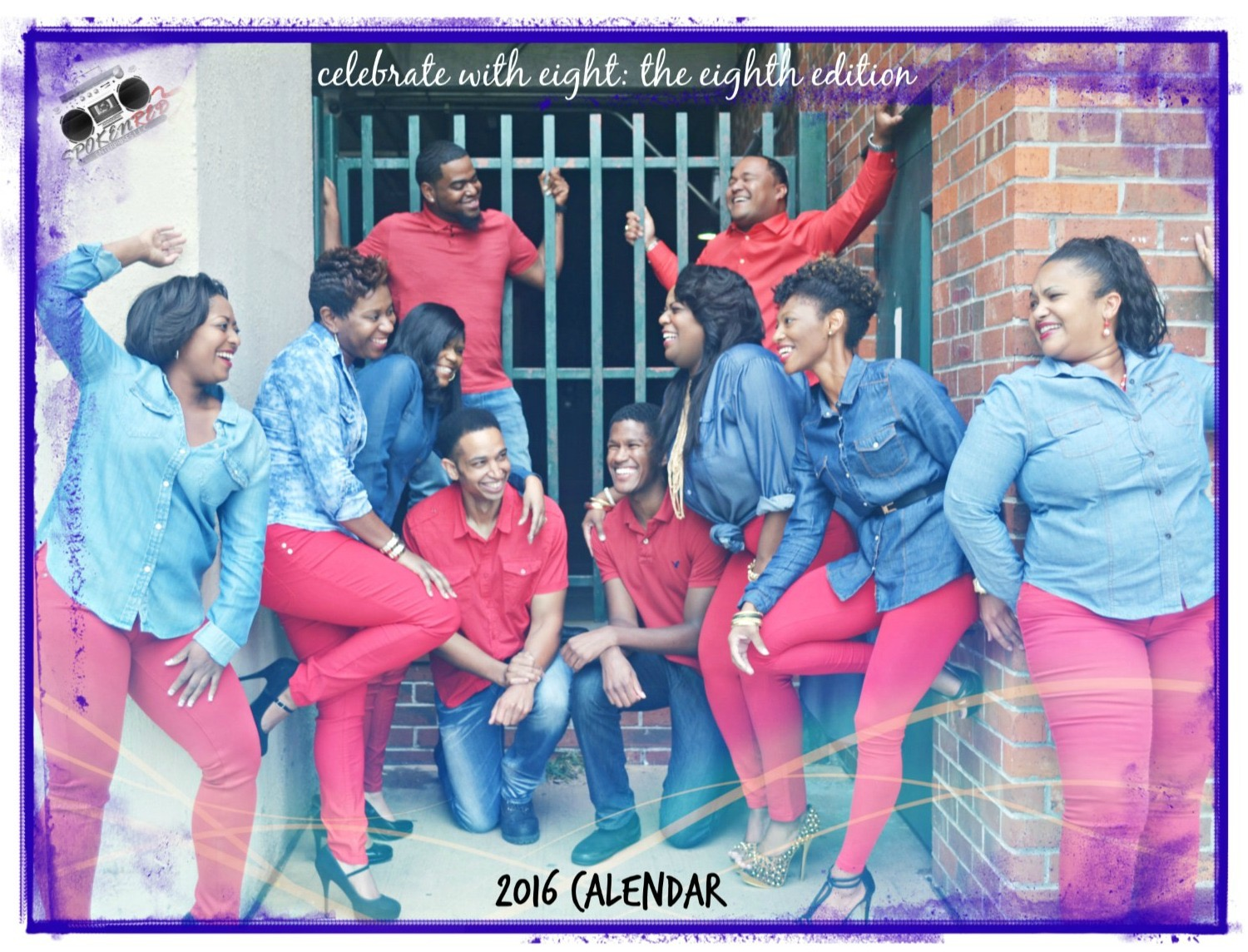 SPOKEN RED 2016 CALENDAR SHOOT